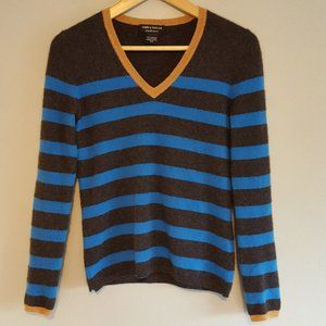 Lord & Taylor Cashmere V Neck Sweater